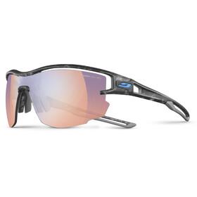 Julbo Aero Zebra Light Red Sunglasses Gray Tortoiseshell/Gray-Multilayer Blue